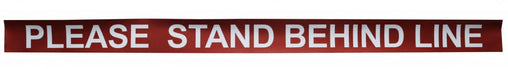 "Social Distancing Signage 10 Pk (Stand Behind Line Decal 100cm x 7cm) ""Please Stand Behind Line"""