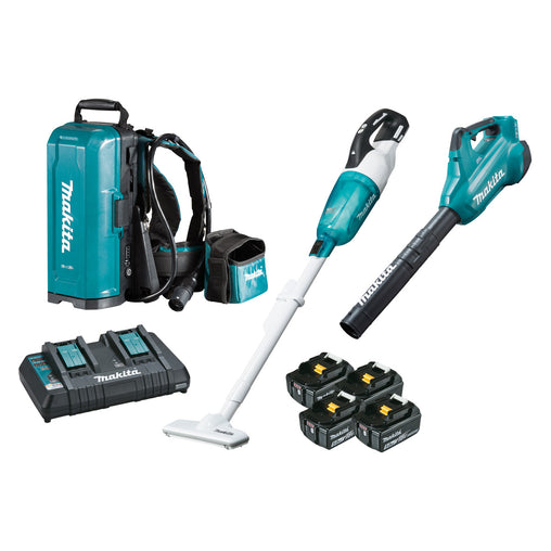 Makita DLX2356TX1 18V BRUSHLESS 2 Piece Combo - DUB362Z, DCL281FZWX