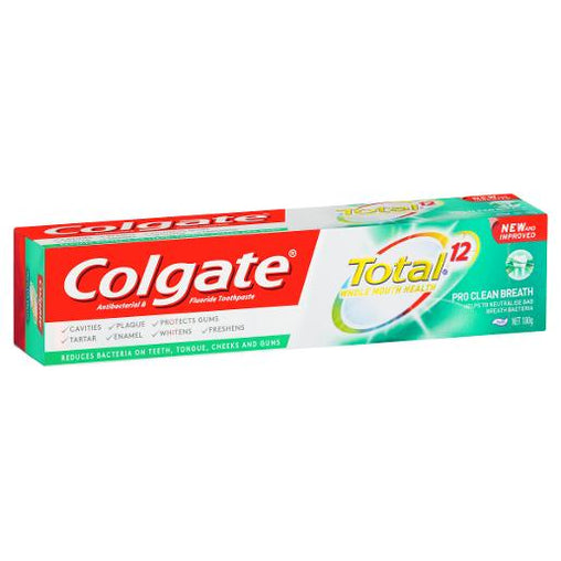 Colgate 180g toothpaste total pro clean breath