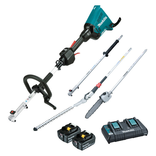 Makita DUX60PSH 36V (18Vx2) Li-ion Brushless Multi-Function Powerhead & Hedge Trimmer Kit