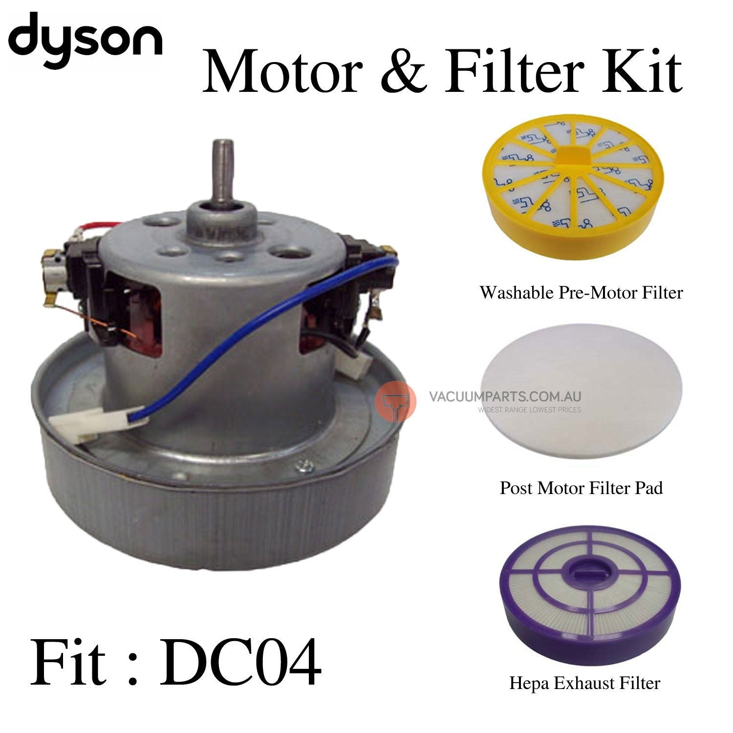Dyson Long Shaft Motor & Filter Kit fit Dyson DC04 vacuum cleaner