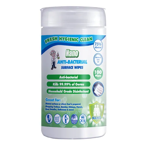 Nano Anti-Bacterial Surface Wipes 100 Wipes