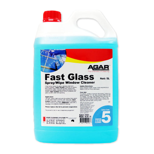 AGAR Fast Glass Spray Wipe Window Cleaner 5L (FAS5)