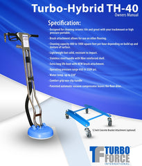 Turbo Force Hybrid Tile & Grout Cleaning Tool 12 Inch