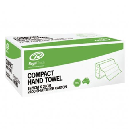 RT 66080 Interleaved Compact Hand Towels 2 ply 19.5cm x 26cm (2400 sheets)