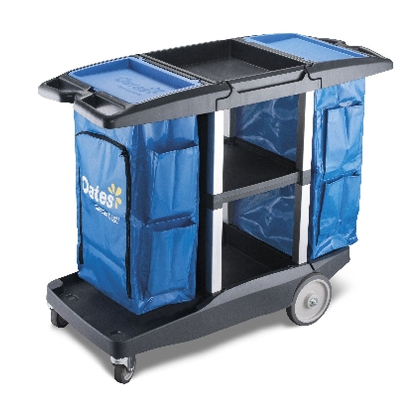 Oates Platinum Housekeeping Cart Dual Handle #JC-3200D