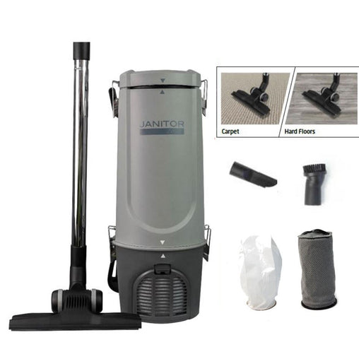 Janitor JV500 Commercial Lightweight Backpack Vacuum Cleaner