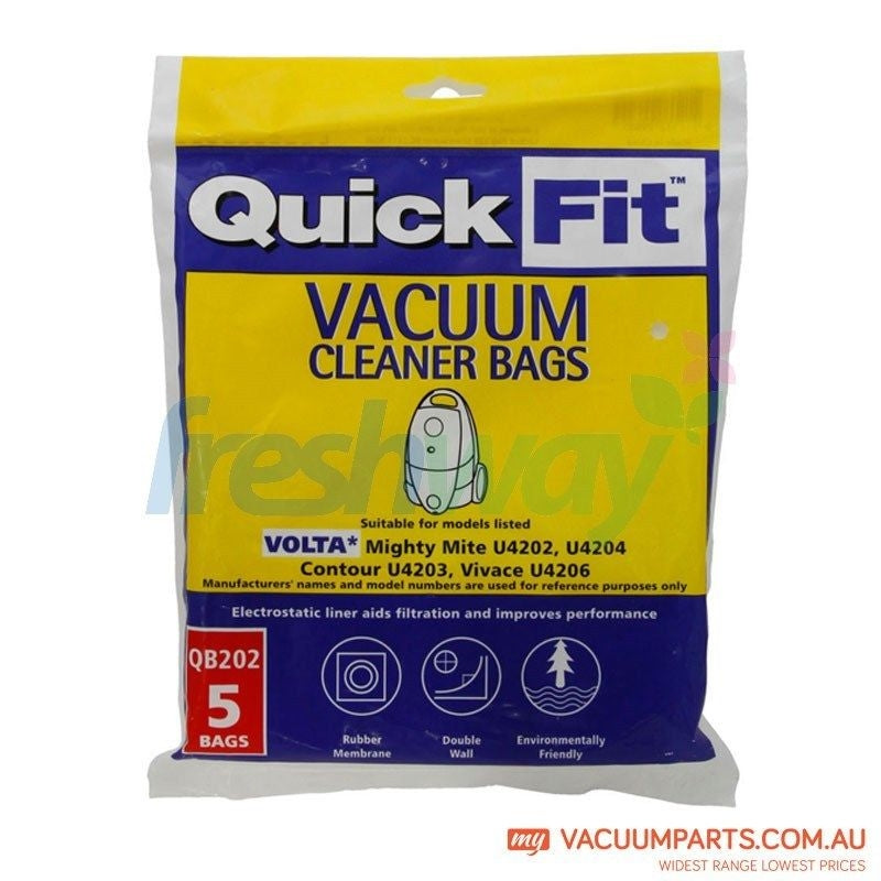 Volta QB202 Vacuum Bags for Mighty Mite, Contour and Vivace Vacuum Cleaner