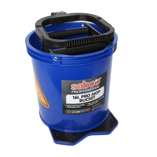 Heavy Duty Plastic Mop Bucket with Plastic Wringer 16L