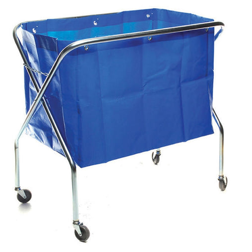 Metal Scissor Waste Trolley Complete with Trolley Bag