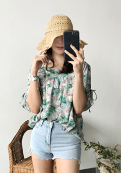 Tropical Pineapple Blouse