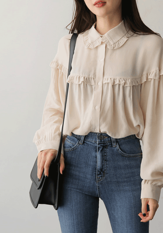 Keep On Loving You Ruffle Blouse