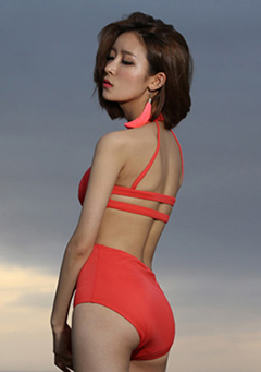 Cutting Halter Neck Monokini