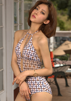 Ethnic Pattern T-Strap One-Piece