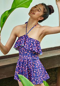 Lilac Halter Flare Onepiece