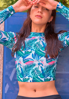 Sunset Beach Crop Rashguard