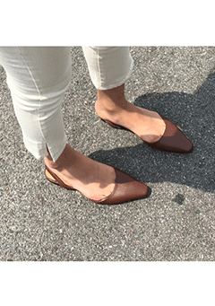 Allan Poe Pointed Mules