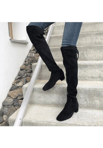 Washed Away High-Knee Boots