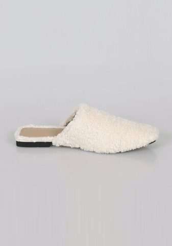Stepping Up Fleece Mules
