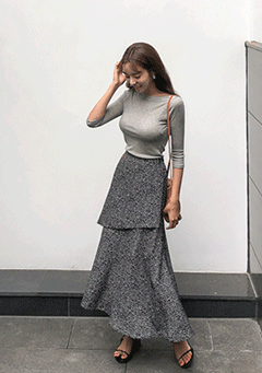 Ali Layered Midi Skirt