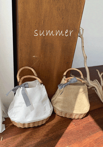 Millennium Manbo Straw Bucket Bag