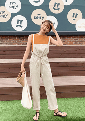 All Our Small Talks Linen Jumpsuit