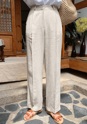 It Doesnt Matter Why Wide Linen Pants