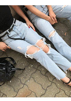 Forkas Ripped Denim Jeans