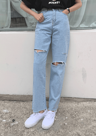 For Some Of Us Distressed Denim Jeans