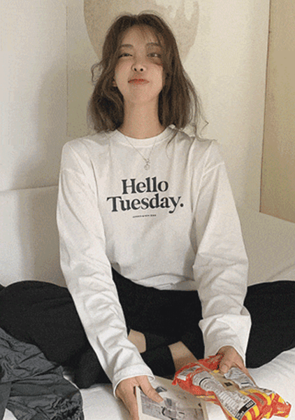 Hello Tuesday Lettering Top