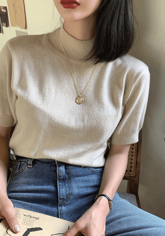 How Deeply Wool Knit Top