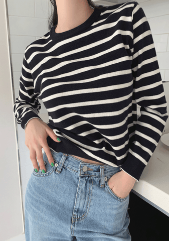 As Good As It Gets Stripes Knit Top
