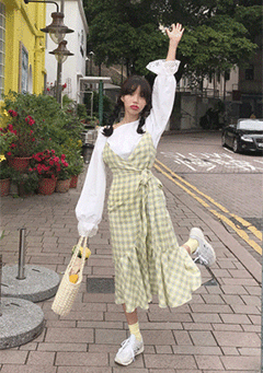 Picnic Checks Pinafore