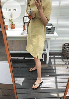Fresh Linen Wrap Dress