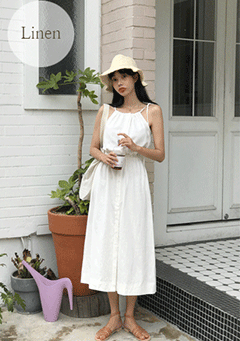 Samson Linen Banded Maxi Dress