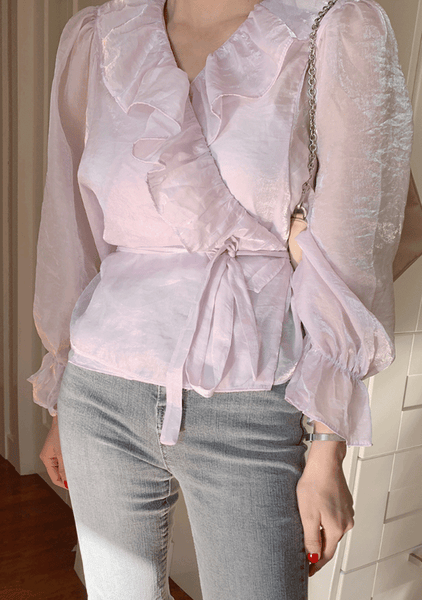 Running Toward My Dream Ruffle Blouse