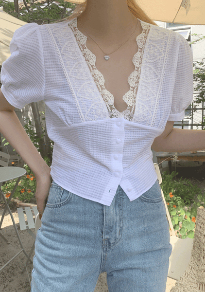 Julieta Lace Trim Blouse