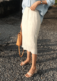 Piao Pleated Midi Skirt