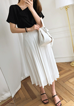 Bylas Gathered Midi Skirt