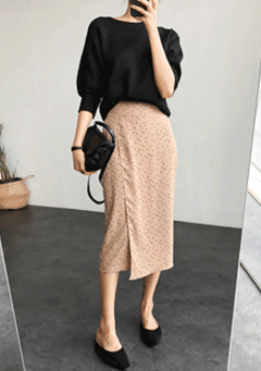 The Sun Goes Down Polka-Dot Skirt
