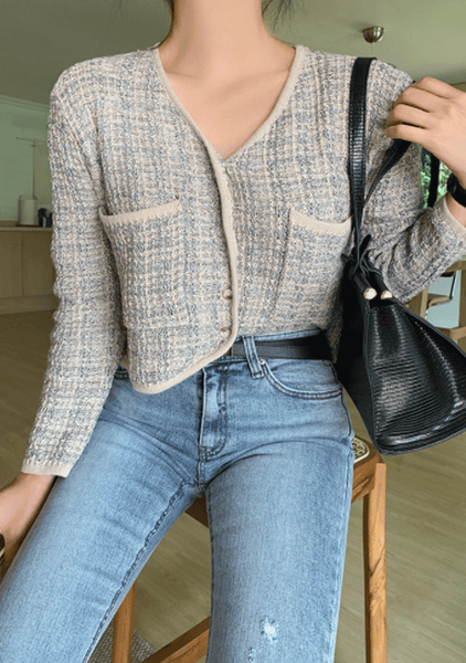 Important Things In Common Tweed Cardigan