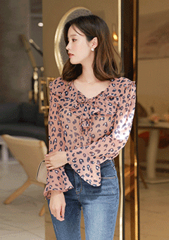 Life Changing Leo Print Blouse