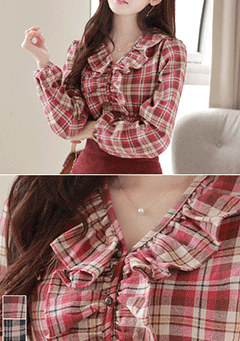 Worth Fighting For Plaid Blouse