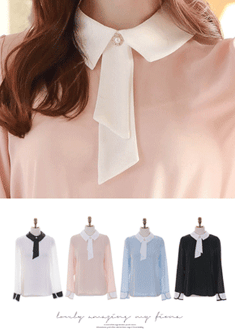 Strive For Progress Ribbon Blouse