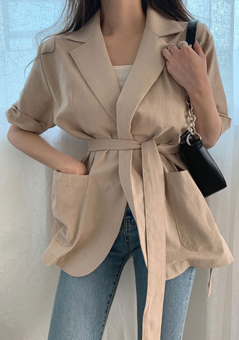 The Sunday Edit Linen Jacket