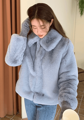 Life Becomes Clear Faux-Fur Jacket