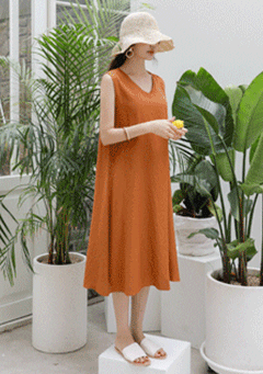 Tangerines Sleeveless Dress