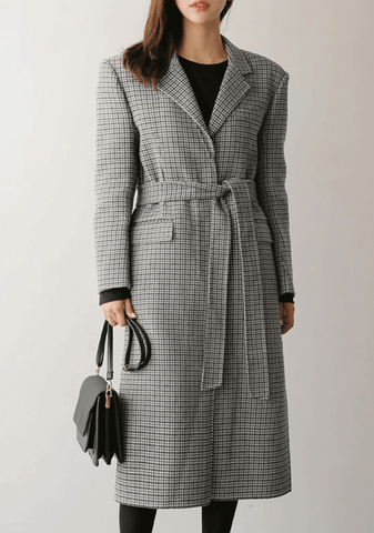 Marcell Check Coat