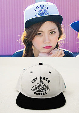 CUT BACK Hat Embroidered Snapback