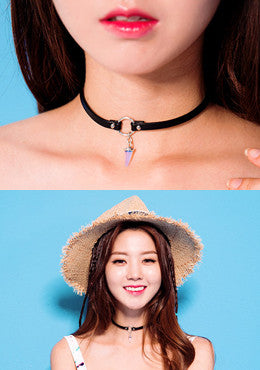 Take Care Of Ending Pointed Pendant Choker